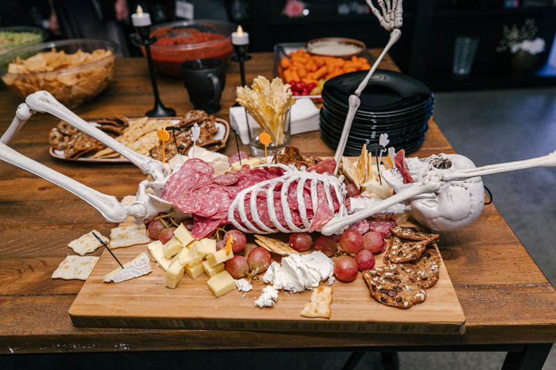 The charcuterie board at Arc's Halloween party was to die for.