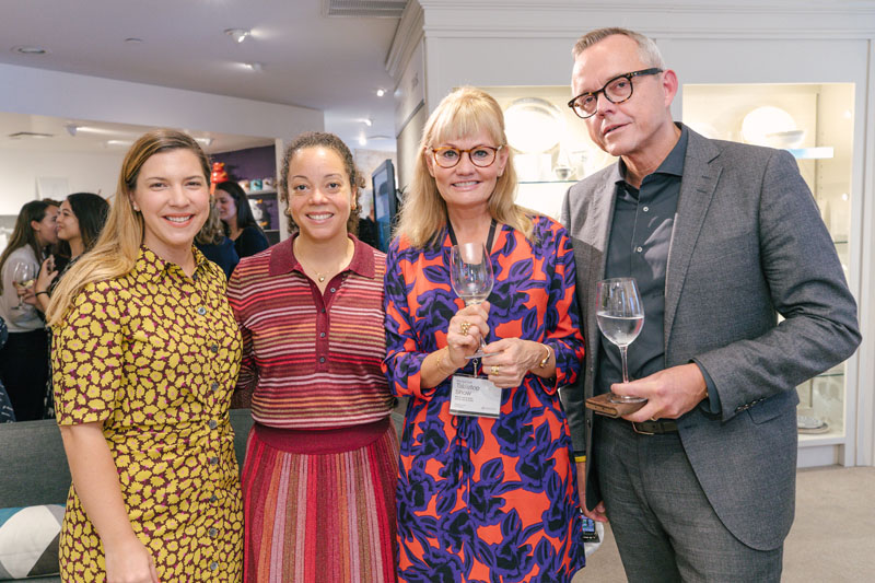 Mary Sell, Kate Spade New York senior manager, global licensing and collaborations, and KSNY senior director of global licensing Jackee de Lagarde joined Outfit International's Lotte Franch and Lenox Corporation CEO Mads Ryder.