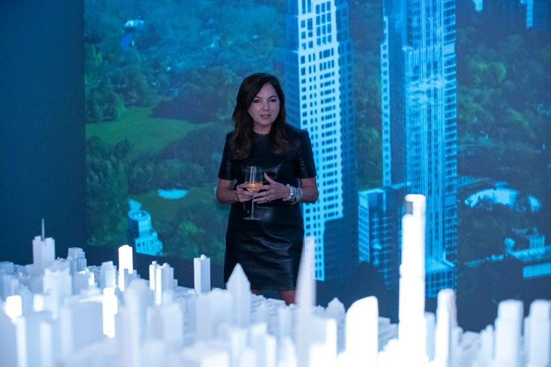Lauren Rottet gives a brief presentation on the interiors of Central Park Tower.