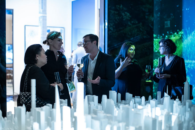 The cityscape model and video enhanced conversation.