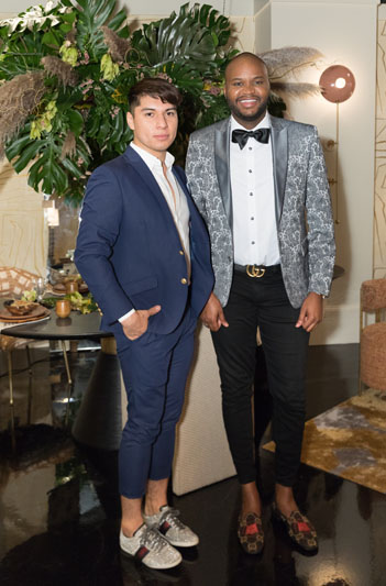 Floral designer Felix Hernandez and interior designer Ron Jones elevate the fashion game at a Tour de Fourth party.
