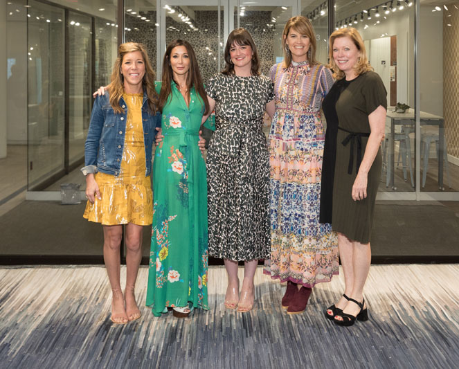 Moattar's Andrea Moattar (second from left) and Garden & Gun style director Haskell Harris (center) co-moderated a discussion about 'Southern Women and Signature Style' with interior designers (from left) Betsy Berry, Fran Keenan and Phoebe Howard.