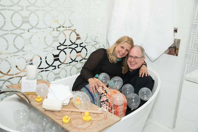Interior designer Tish Mills Kirk and her husband, architect Scott Kirk, launched a collaborative vignette with Renaissance Tile & Bath and Peacock Alley.
