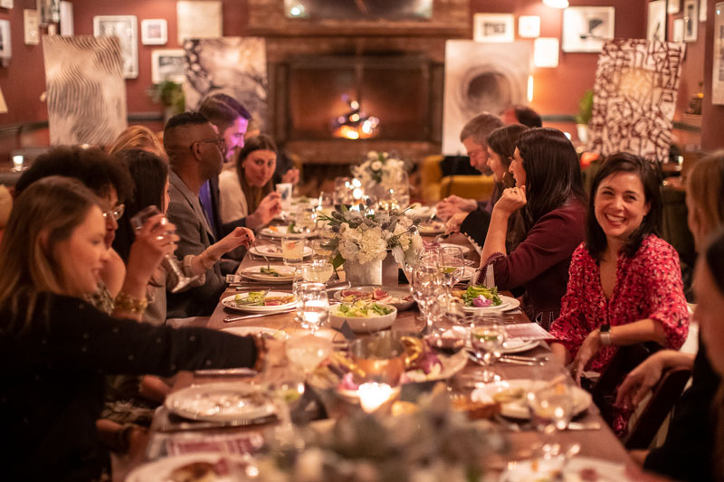 An intimate designer dinner