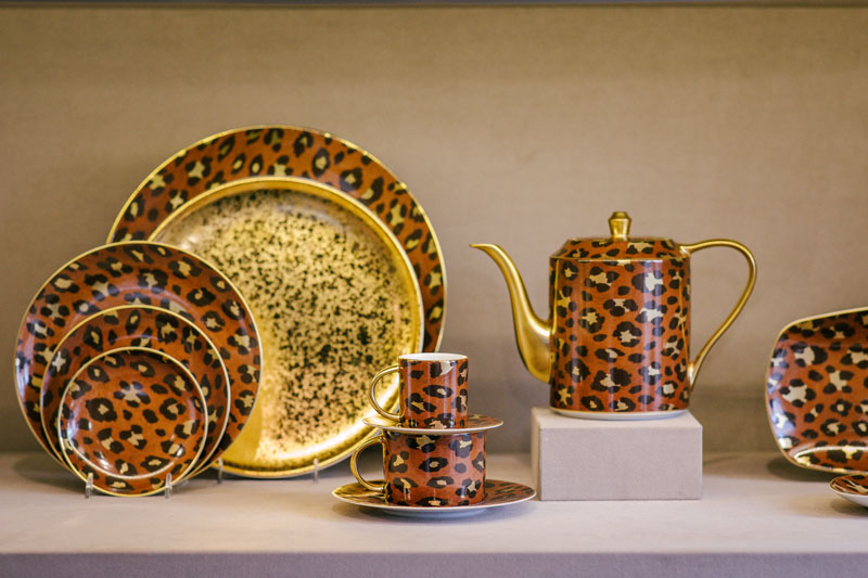 L'Objet's new spotted dinnerware