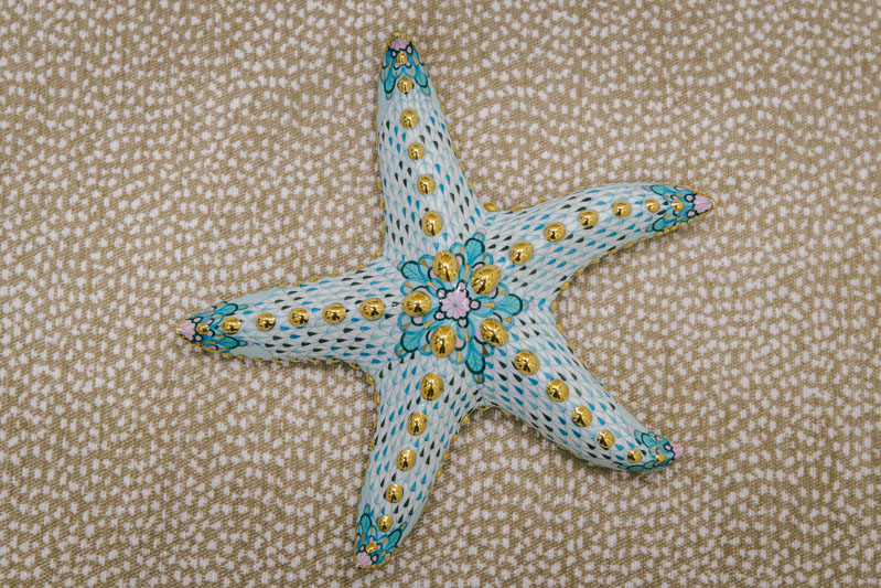 A starfish figurine by Herend