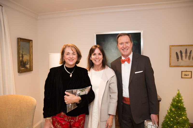 Joy Coleman of Thibaut, Maria McLaurin of McLaurin Interiors and Bill Sorrell of Thibaut
