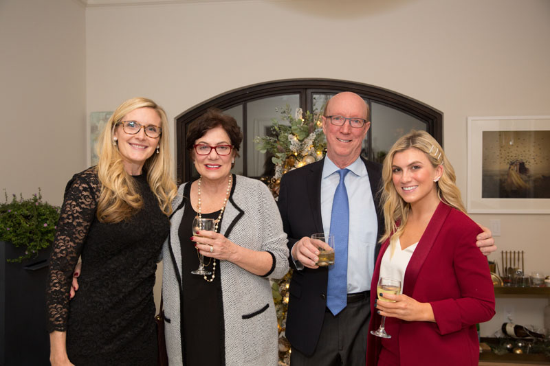 Mary Elizabeth Finkey of MTI Baths; Diane and David Parrish; Emily Brown of The O'Donnell Group