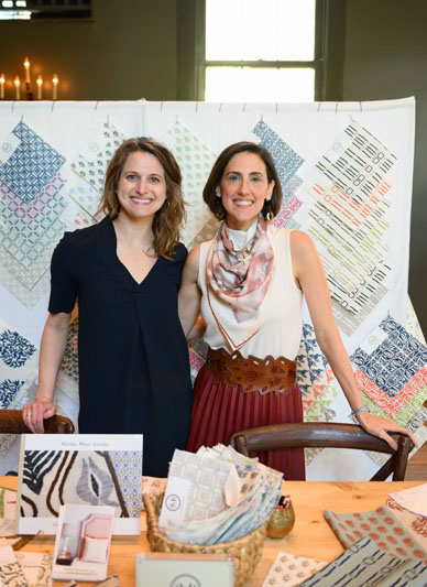 Jamie Thompson and Rebecca Kim of Marika Meyer Textiles