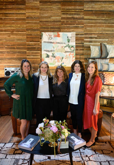 Katy Polsby of CW Stockwell, Cristina Buckley of Cristina Buckley, Paige Cleveland of Rule of Three Studio, Alex Mason of Ferrick Mason, and Kaitlin Petersen of Business of Home