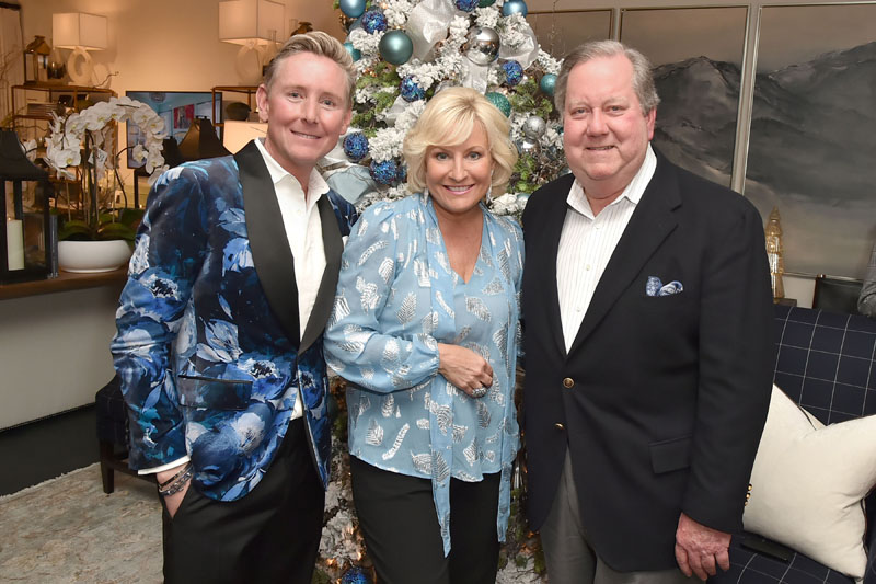 Barclay Butera with Christine Phillips and Phil Haney of Lexington Home Brands