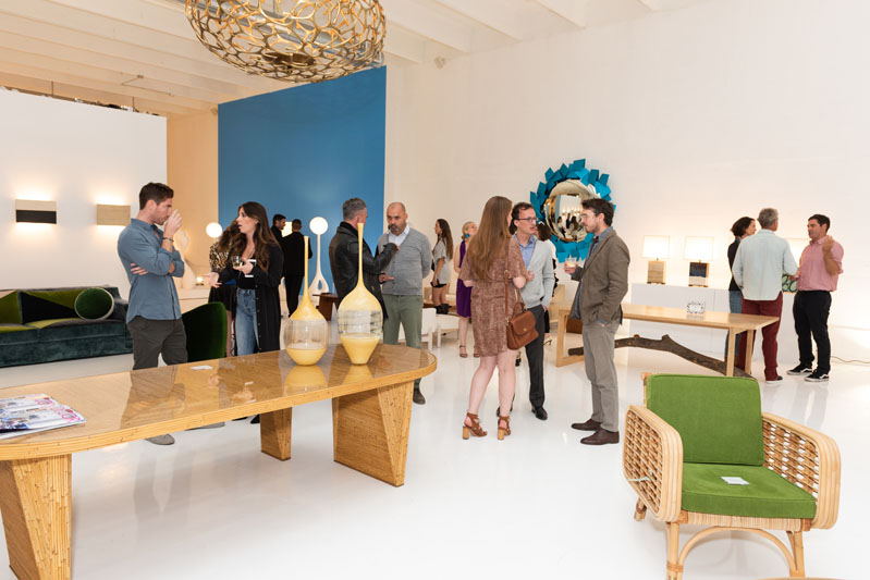Guests mingled amongst the exhibitions inside the gallery.