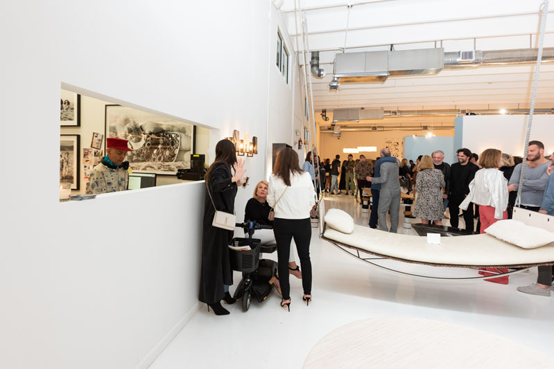 Guests enjoyed the exhibitions inside the galleries.