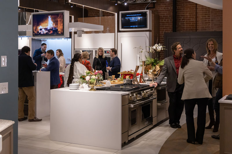 More than 70 guests came to enjoy the showroom.