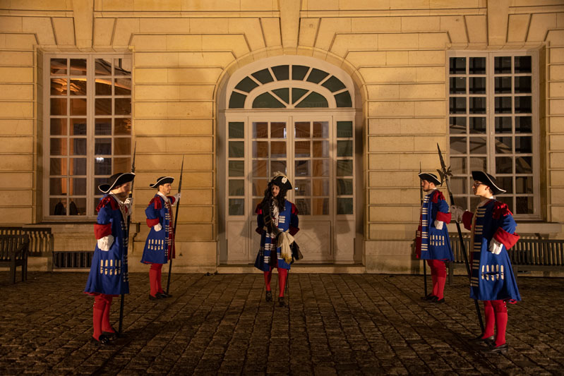 Palace guards lining up to receive guests