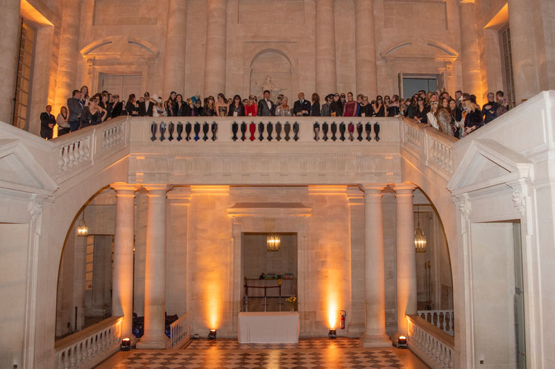 The entire group of on the Gabriel Staircase at the main entrance to the Palace