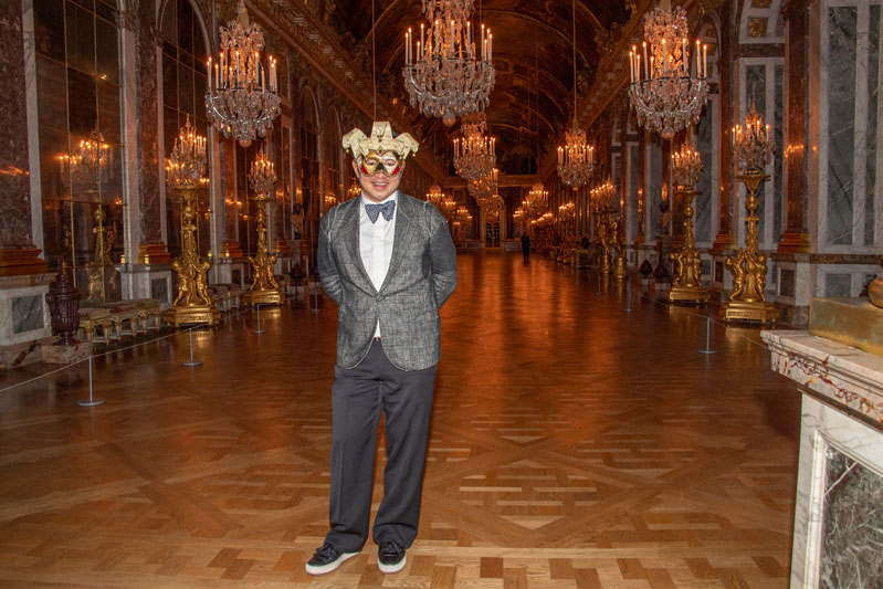 Host Jiun Ho in the Hall of Mirrors