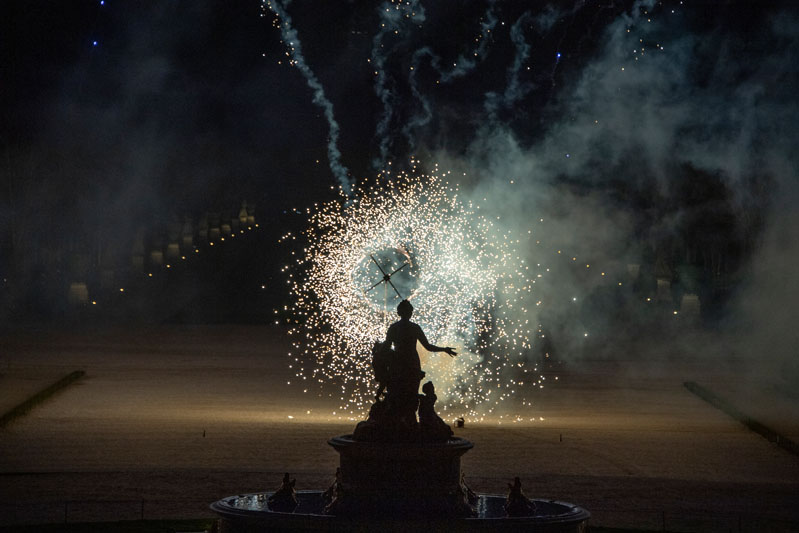 After dinner, guests were treated to a surprise fireworks display over the Gardens of Versailles.