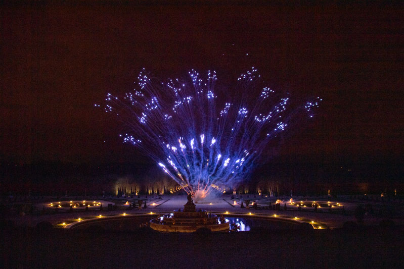 After dinner, guests were treated to a surprise fireworks display over the Gardens.