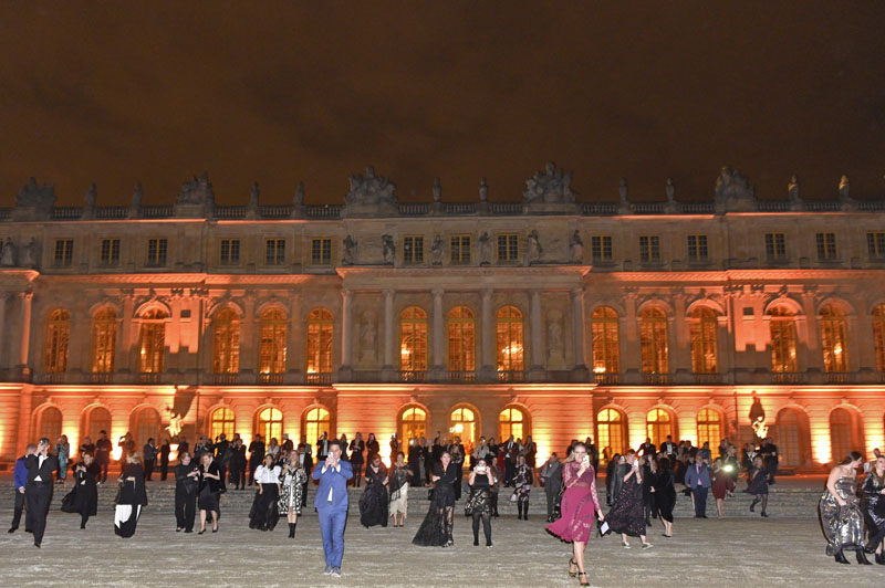 Guests entered the Gardens of Versailles to view the surprise fireworks display.