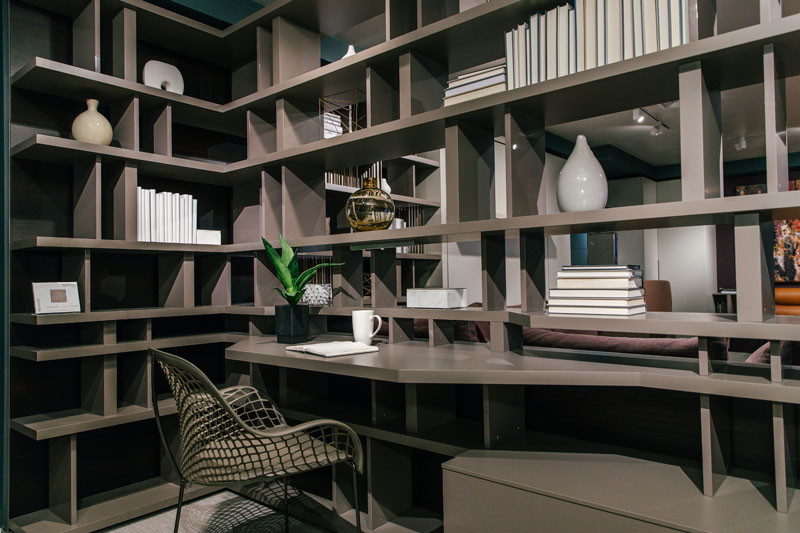 The Libreria shelving unit and room dividing system was a major crowd pleaser.