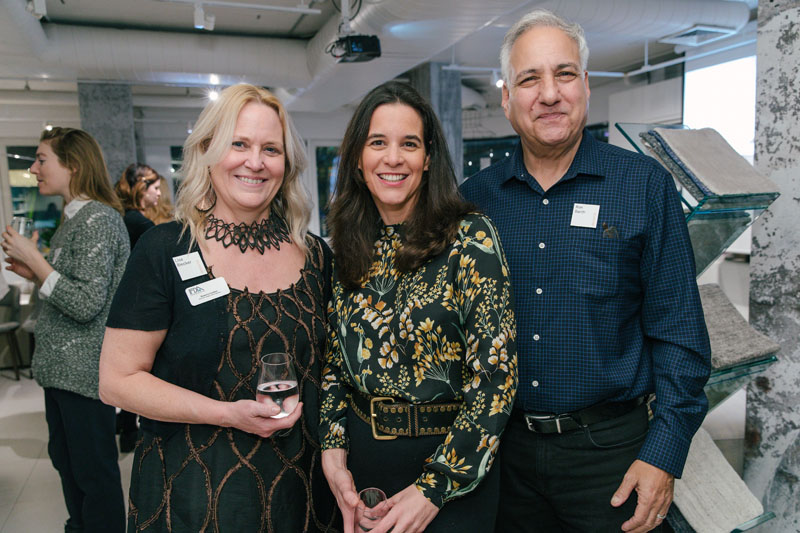 Resource Furniture's marketing director Lisa Blecker, Interior Design's Annie Block and, Resource Furniture co-owner and co-founder Ron Barth