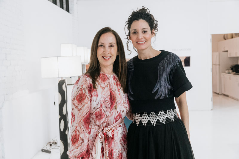 Galerie's Beth Brenner with Arianne Nardo of Ralph Pucci