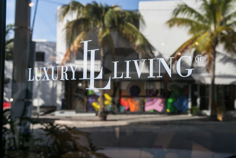 The Luxury Living Group showroom in the Miami Design District