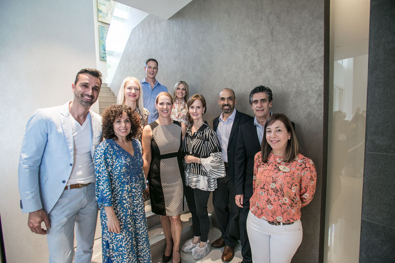 Ricardo Britto, Pamela Jaccarino, Marissa Kartheiser and Kate Kelly Smith, with NuSpace Architect & Design team Juan Brugo, Mario Rumiano and Betsy Madge