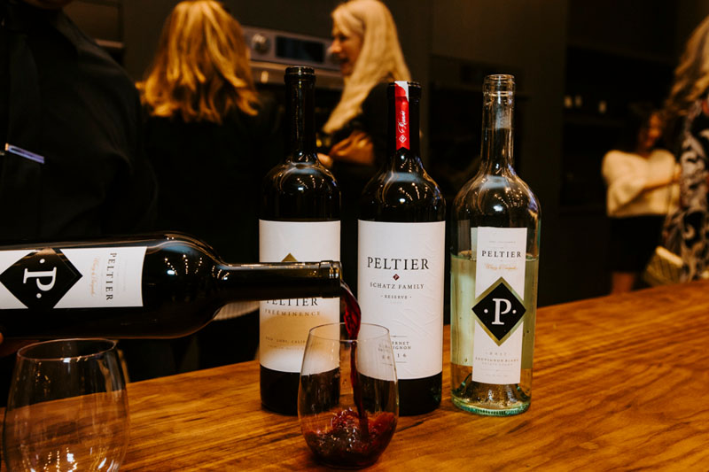 Guests enjoyed wine from Peltier Winery.