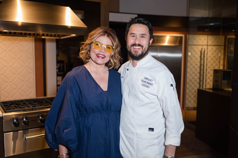 Denise McGaha and Chef Donald Chalko