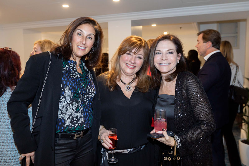 ASID NY Metro New York's then Long Island liaison Katharine McGowan and former president Kim Radovich, with Holiday House founder Iris Dankner