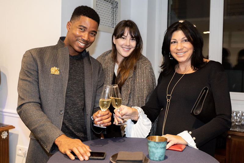 Keith Jones, ASID NY Metro Chapter director-at-large Kristin Firine, and designer Mary Middlemiss