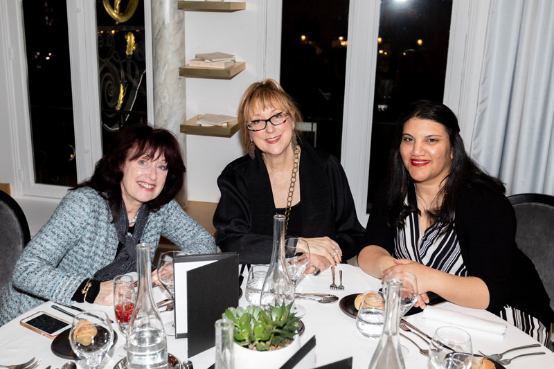Rochelle Sheib, Robin Baron and ASID NY Metro Chapter communications director Miriam Makram