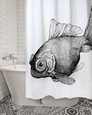 Hand Printed Shower Curtains