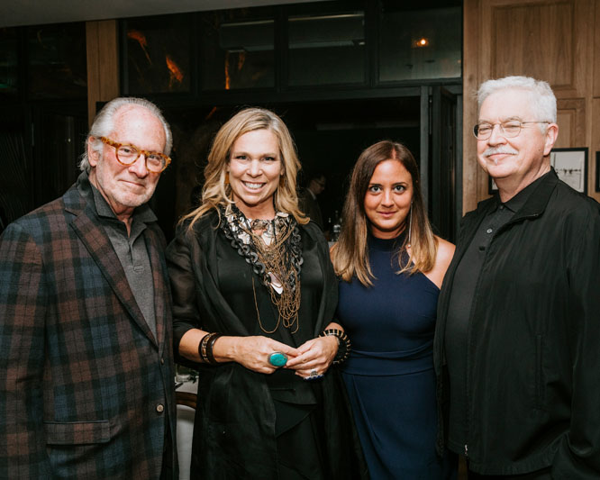Interior designers Richard Shapiro and Kim Gordon, Elle Decor's Jennifer Lambros, and furniture and textile designer Kerry Joyce