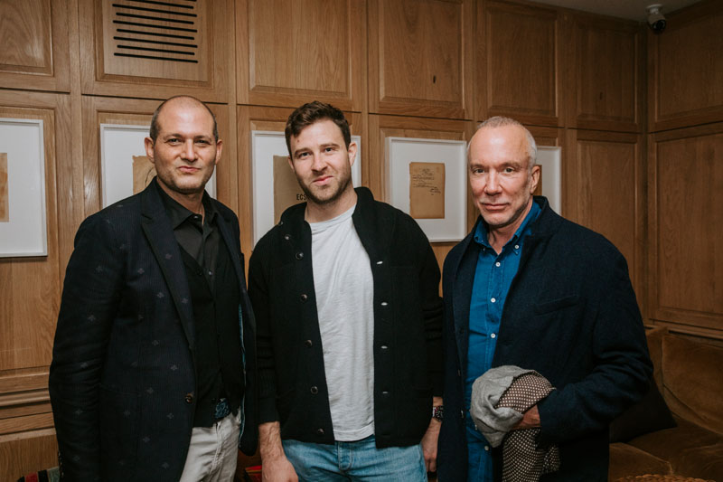 William Pittel with textile designer Otis Weis and GMA producer Mark Robertson