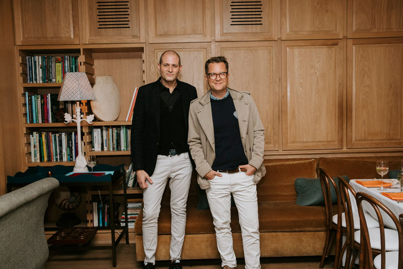 William Pittel and interior designer Nathan Turner