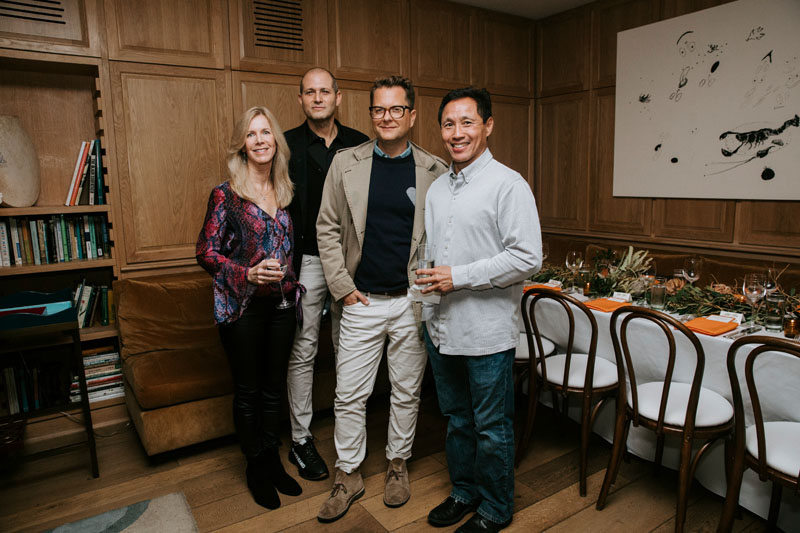 Elle Decor's Cynthia McKnight and William Pittel, with Nathan Turner and Benjamin Woo