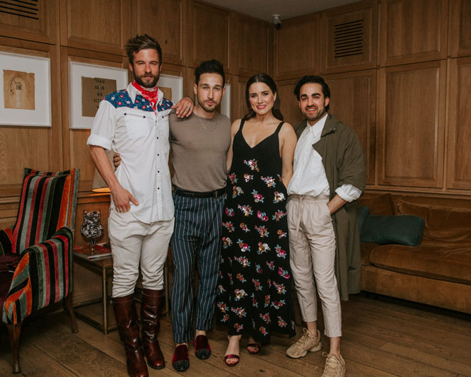 Landscape architect John Alden Sharp, contractor Orie Prince, actress Sophia Bush and interior designer Jake Alexander Arnold
