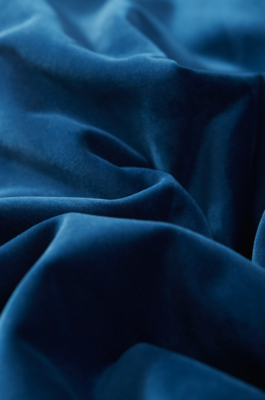 Plush Velvet in Sapphire is one of more than 400 upholstery fabrics, including pet-friendly, commercial, and performance options