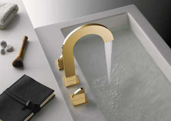 The EDGE Collection in Polished Gold