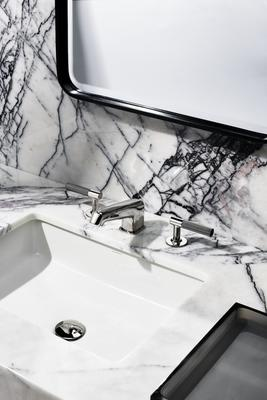 Bond Union Series Faucet, Manchester Sink, Bond Mirror and Floe Tray