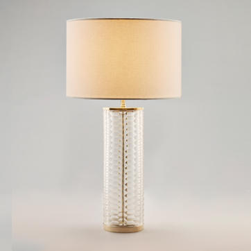 Clear Honeycomb Glass Table Lamp