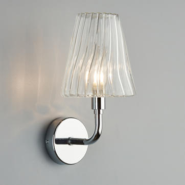 Hal Wall Light in Polished Nickel