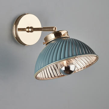 Mini Tiber Wall Light in Unlacquered Polished Brass