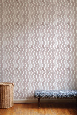 River Wallpaper in Taupe