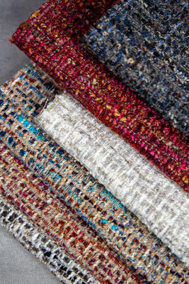 Crypton's deeply textural Rushdie boucle in a range of color options is a highlight of the United Fabrics Spring/Summer 2020 Crypton Home collections
