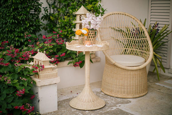 Sloane Side Table and Vizcaya Chair