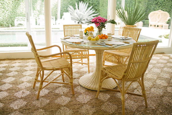Biscayne Dining Table with Ca'Liza Arm Chairs